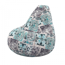 Кресло мешок Сиена Блу из велюра купить в Минске и Беларуси