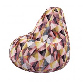 Кресло мешок Твинкли Рэд из велюра купить в Минске и Беларуси