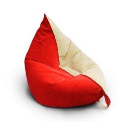 Кресло_подушка_Красно-Бежевая