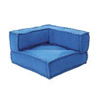 Синий бескаркасный угловой диван купить в Минске и Беларуси